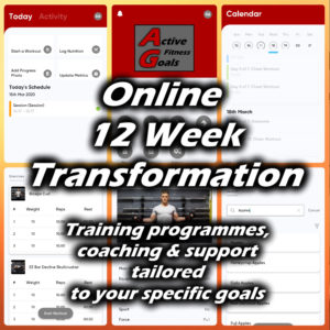 12 week online personal training banner