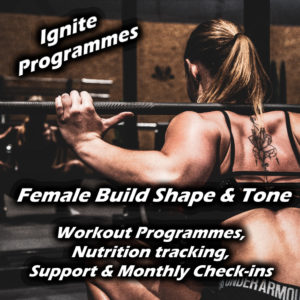 female fitness programme banner