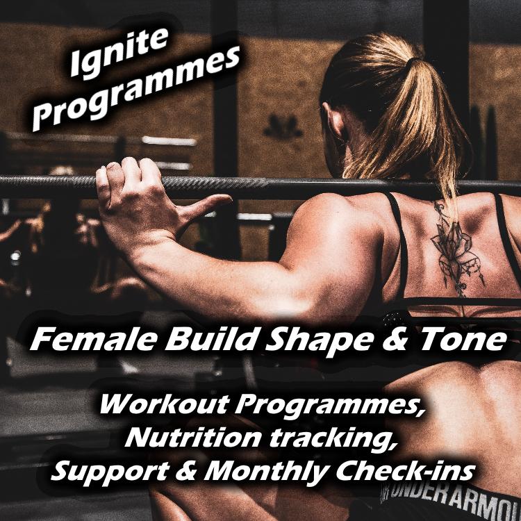 female fitness programme banner