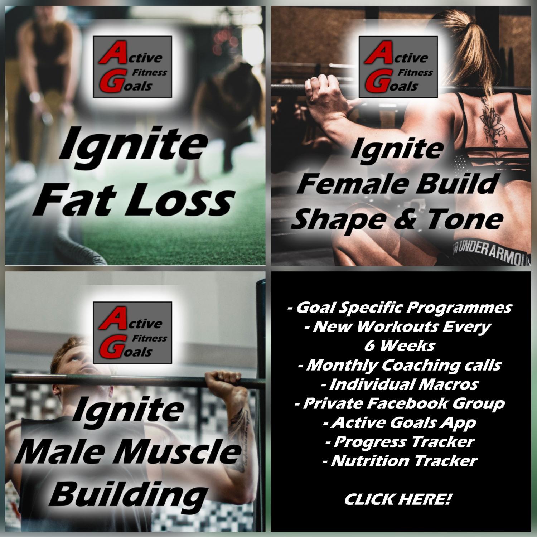 ignite fitness programme banner