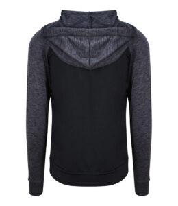 mens fitness hoodie back