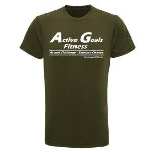 fitness t-shirt challenge change olive
